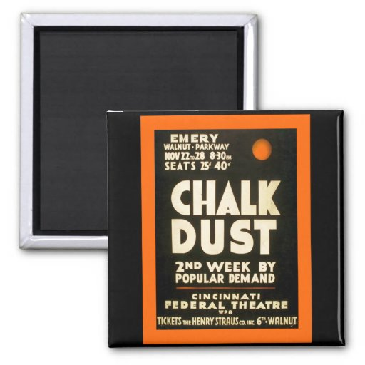 Chalk Dust Fridge Magnets