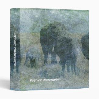 Chalk Elephants Binder