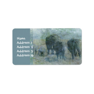 Chalk Elephants Label
