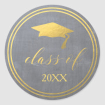 Chalk & Faux Gold Foil | Graduation Envelope Seal