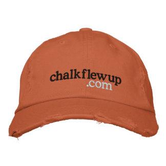 chalk flew up (dot com) hat embroidered baseball cap