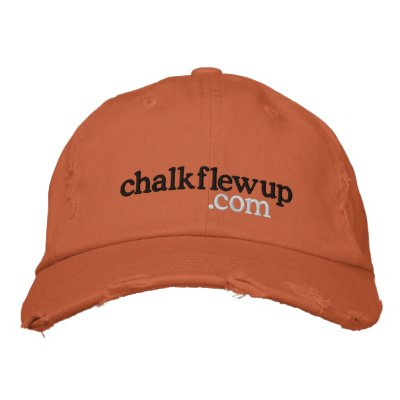 chalk flew up (dot com) hat embroidered hats