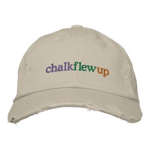 chalk flew up (khaki hat) embroidered baseball cap