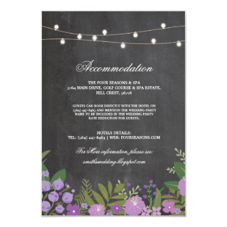 Chalk Floral Rustic Accommodation Wedding Cards