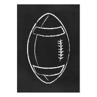 chalk football large business card