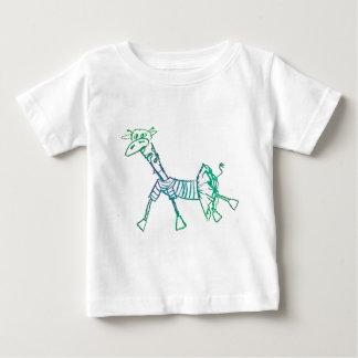 Chalk Giraffe in a Tutu Baby T-Shirt