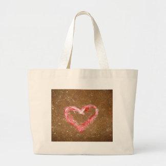 Chalk Heart Canvas Bags