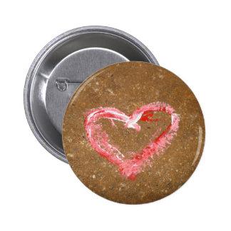 Chalk Heart Pinback Buttons