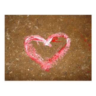 Chalk Heart Post Card