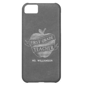 Chalk Inspired 1st Grade Teacher iPhone 5 Case