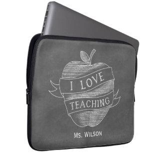 Chalk Inspired Apple Electronics Bag For Teachers Computer Sleeves