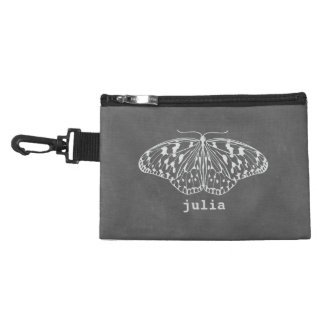 Chalk Inspired Butterfly Clip On Accessory Bag