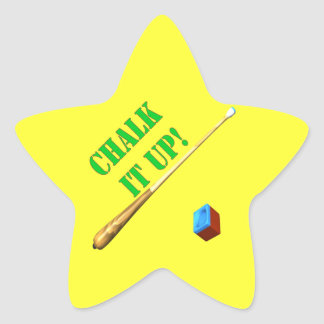 Chalk It Up 3 Star Sticker