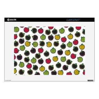 """Chalk It Up! Apples – Chalkboard Pattern 15"""" Laptop Skins"""