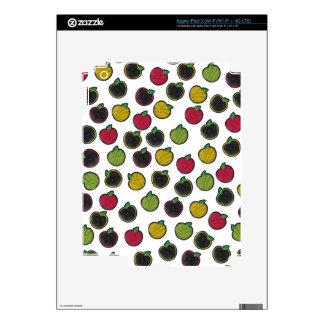 Chalk It Up! Apples – Chalkboard Pattern iPad 3 Decals