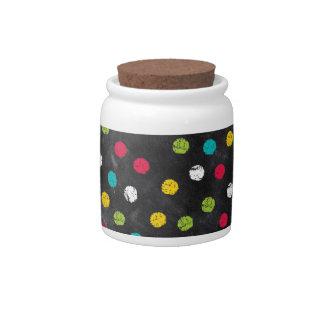 Chalk It Up! Rainbow Polka Dots – Chalkboard Print Candy Jar
