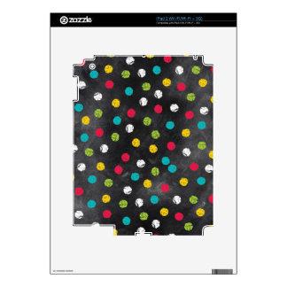 Chalk It Up! Rainbow Polka Dots – Chalkboard Print Decals For The iPad 2