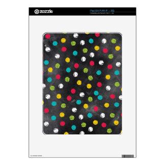 Chalk It Up! Rainbow Polka Dots – Chalkboard Print iPad Decals