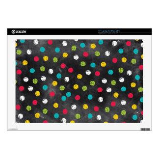 Chalk It Up! Rainbow Polka Dots – Chalkboard Print Laptop Decal