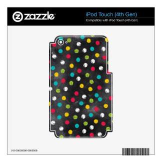 Chalk It Up! Rainbow Polka Dots – Chalkboard Print Skins For iPod Touch 4G