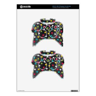 Chalk It Up! Rainbow Polka Dots – Chalkboard Print Xbox 360 Controller Skin