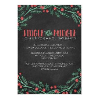 Chalk Jingle and Mingle Holiday Party Invitations