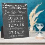 """Chalk Lights Our Love Story Timeline Wedding Decor Plaque<br><div class=""""desc"""">Elegant string of lights love story dates sign for your ceremony,  bridal shower,  or reception!</div>"""