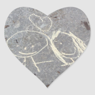 Chalk Love Drawing Sticker