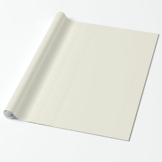 Chalk Neutral Beige Cream Solid Color Background Gift Wrapping Paper