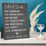 """Chalk Order of Events Wedding Schedule Sign Plaque<br><div class=""""desc"""">Chalk rustic wedding schedule or timeline sign decoration for your wedding reception and ceremony!</div>"""