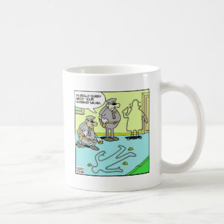 Chalk Outline Funny Police Gifts & Collectibles Classic White Coffee Mug