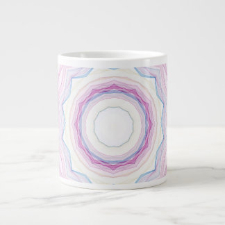 Chalk Rainbow Wave Giant Coffee Mug
