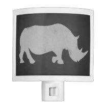 Chalk Rhino Night Light