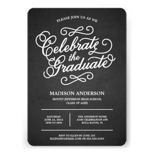 Chalk Script | Graduation Invitation