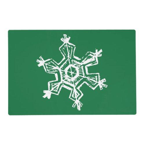 Chalk Snowflake Pattern Placemat