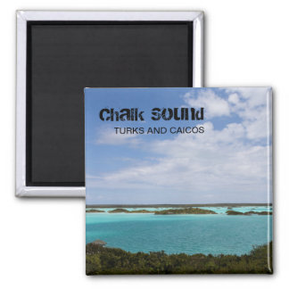 Chalk Sound, Turks and Caicos (TCI), Caribbean 2 Inch Square Magnet