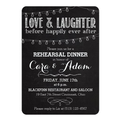 Chalk Style Rehearsal Dinner Invitation 01