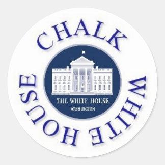 Chalk The White House Classic Round Sticker