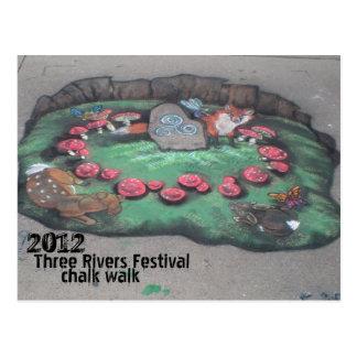 Chalk Walk 2012~postcard Postcard