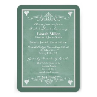 Chalkboar Themed Bridal Shower Invitation template