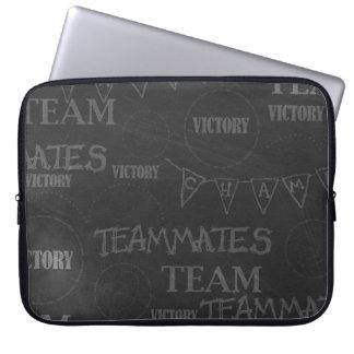 chalkboard02 BLACK GREY CHAMP CHALKBOARD TEXTURE V Computer Sleeves
