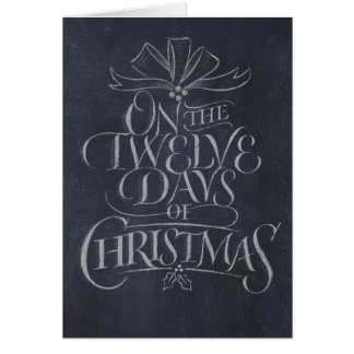 Chalkboard, 12 Days of Christmas, Note Card