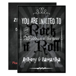 Chalkboard 1950's Rock n' Roll Wedding Invitations