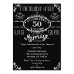 Chalkboard 50th Anniversary Party Invitation