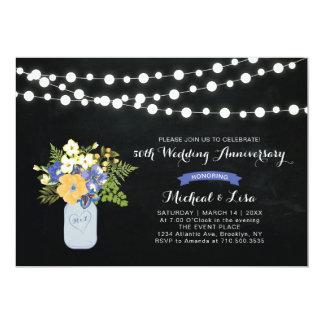 Chalkboard 50th Wedding Anniversary Invitation