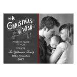 Chalkboard A Christmas Wish Holiday Photo Card