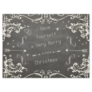 "Chalkboard a Merry Little Christmas 17"" X 23"" Tissue Paper"
