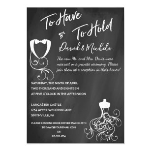 Chalkboard After/Post Wedding Party Invitation