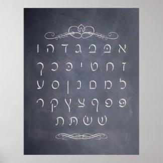 Chalkboard Alef Bet Poster