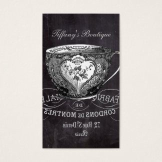 Chalkboard Alice in Wonderland tea party teacup Business Card